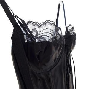 Fredericks Hollywood Satin Lace Corset Garter 34